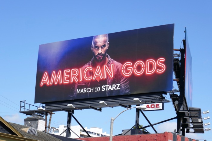American Gods season 2 shadow moon billboard