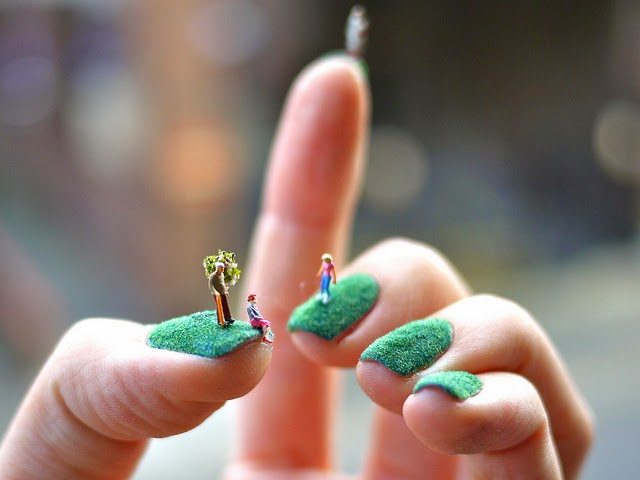 amazing nail art little people on nails