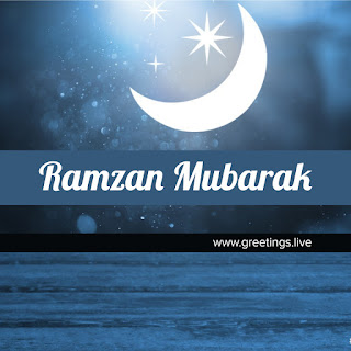 ramzan mubarak 2018 Islamic Festivals greetings HD | Half Moon star sparkling Greetings