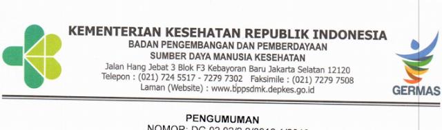 Rekrutmen Tenaga Kesehatan Nusantara Sehat Team Based Periode 1 Tahun 2019