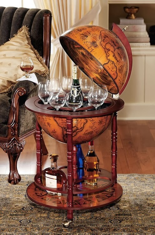 A 16th century Italian style floor globe bar