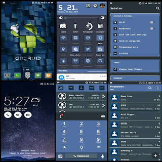 Tema Android Themes Asus Zenfone 5 Blue Shadow