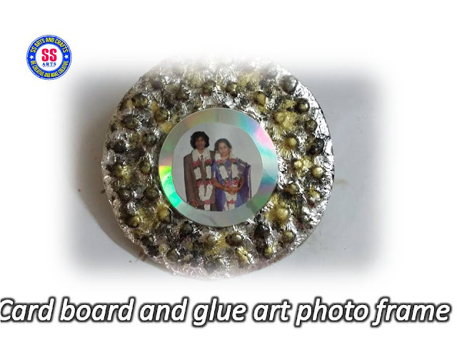 Here is card board crafts,glue gun tricks,glue gun crafts,glue gun art,how to make card board and glue gun photo frame