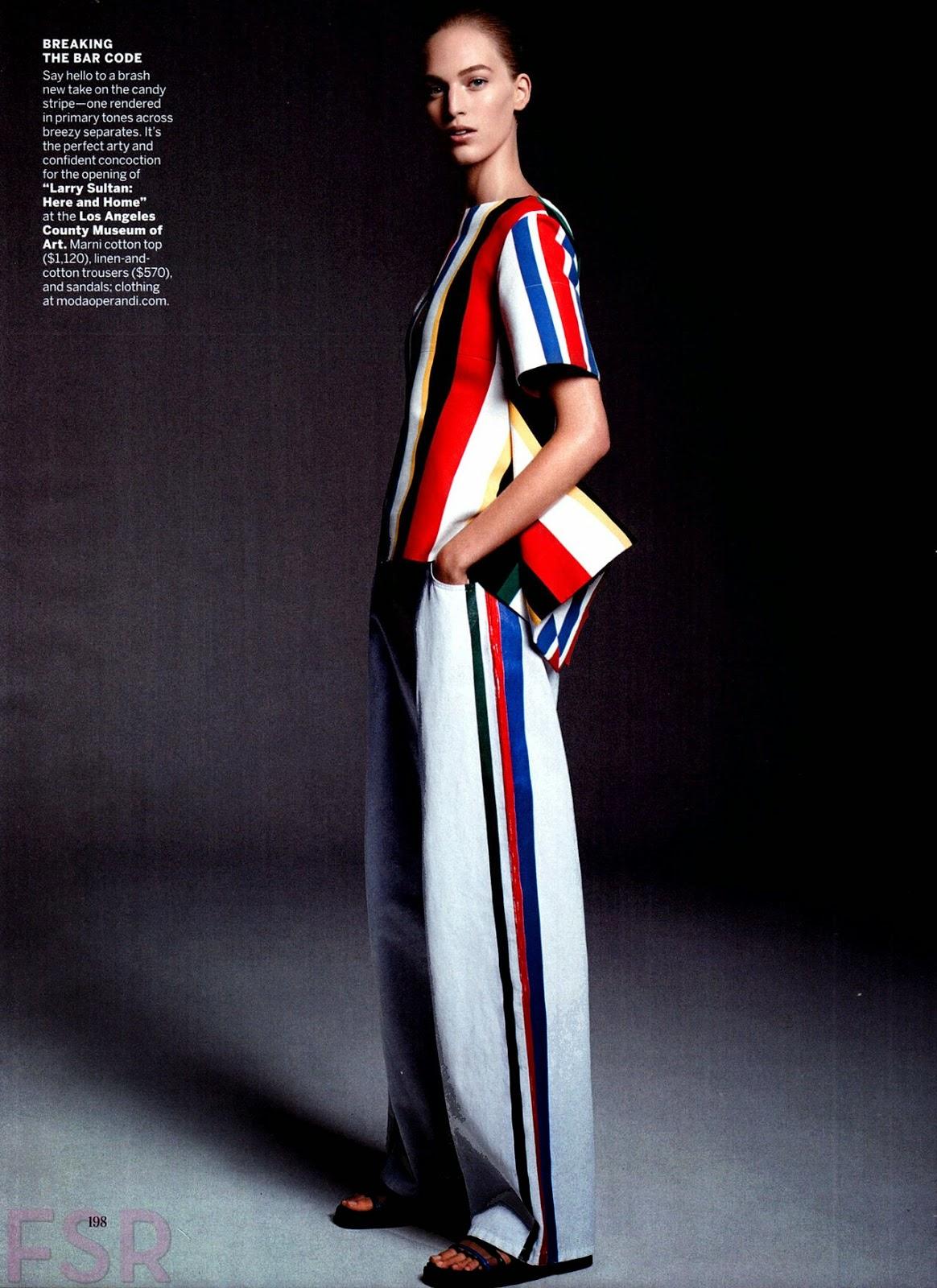 c53812b7d84 Vanessa Axente US Vogue - November 2014. Photographer - Karim Sadli Source  - thefashionspot.com