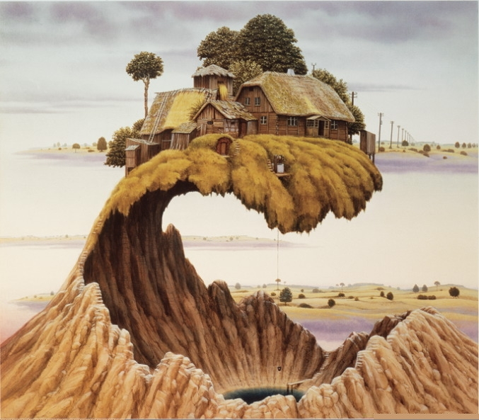 08-Don-t-Slam-the-Door-Jacek-Yerka-Surrealism-in-Dreamlike-Oil-Paintings-www-designstack-co