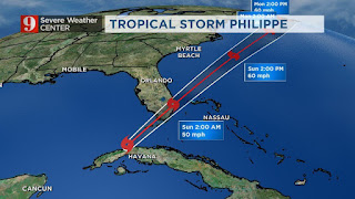 Tropical storm dubbed Philippe
