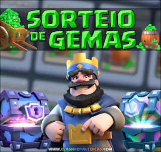 Gemas Grátis no Clash Royale com Sorteio
