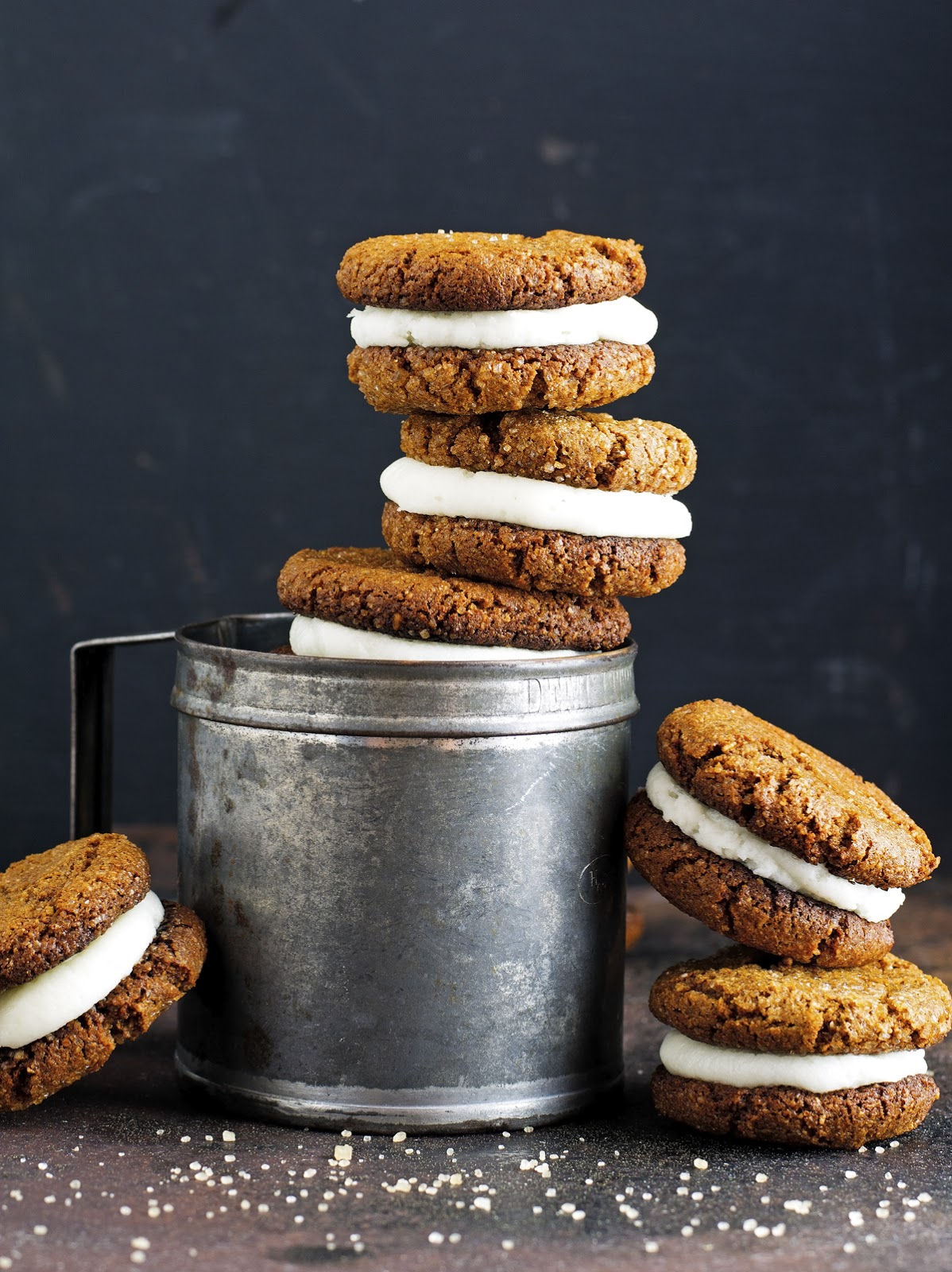 (Paleo) Gingersnap Cookie Sandwiches