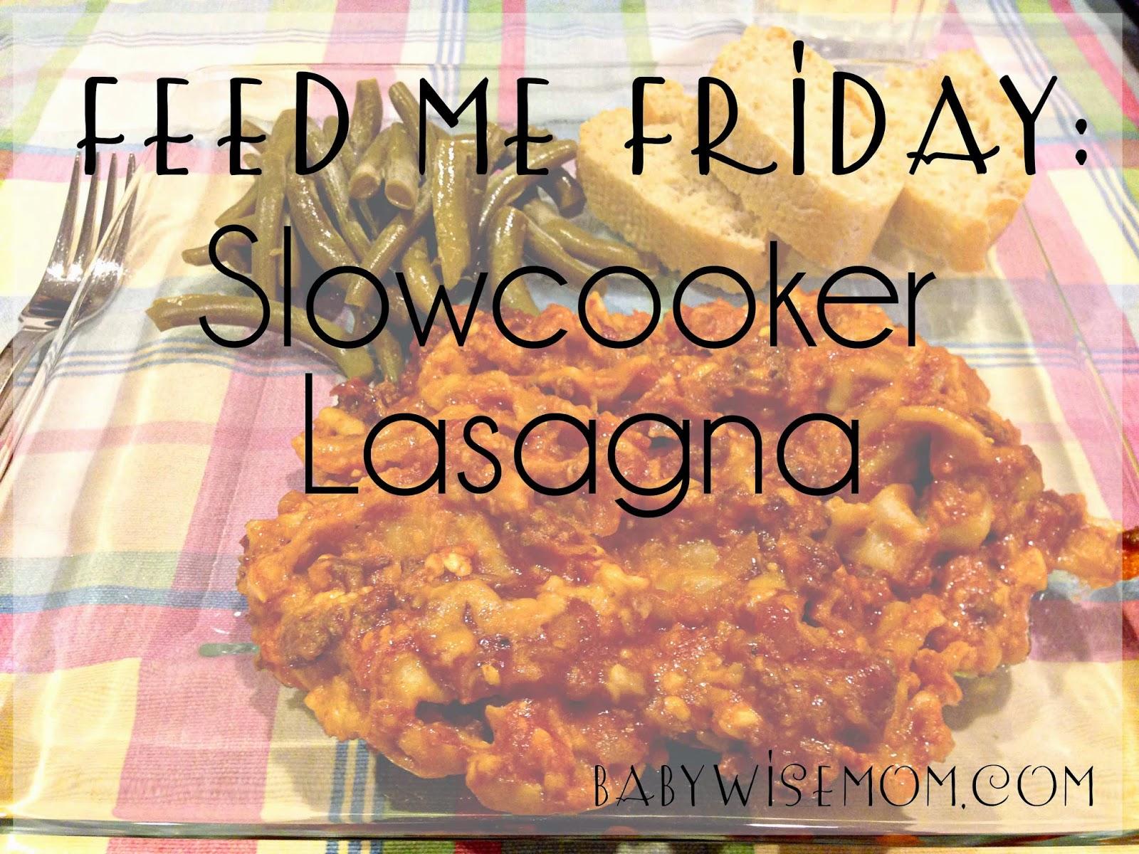 Slowcooker Lasagna