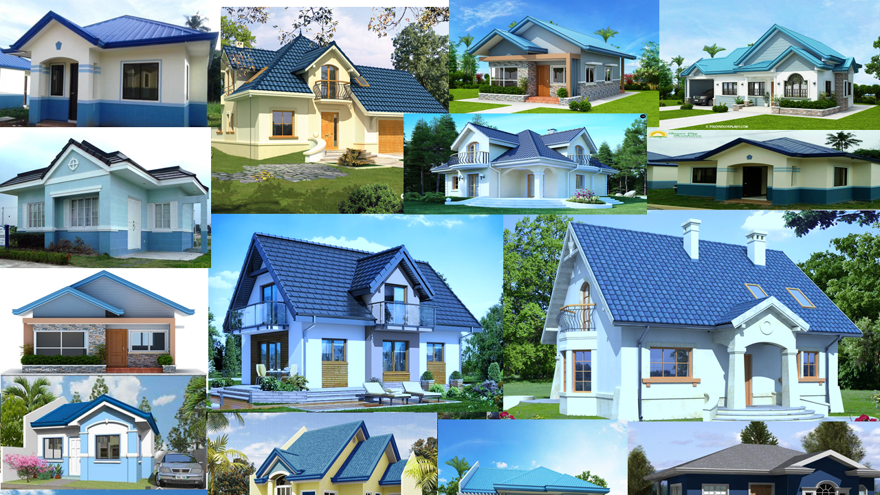 30 Collection Images of Blue House Roof and Blue House Design