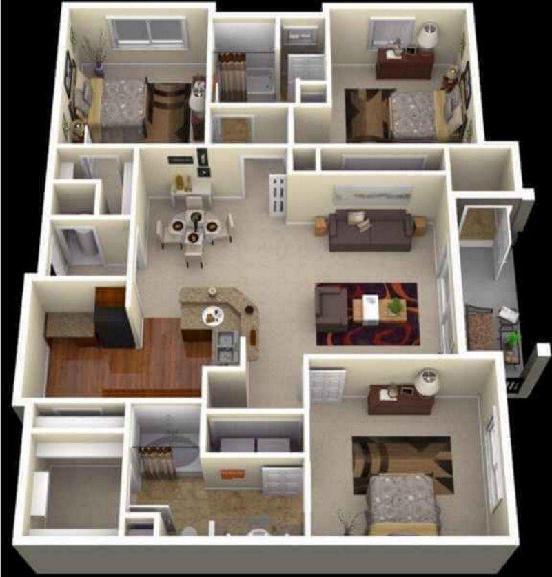 denah rumah 3 kamar tidur 10x15 m 4