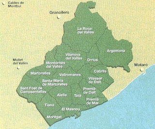 Mapa DO Alella