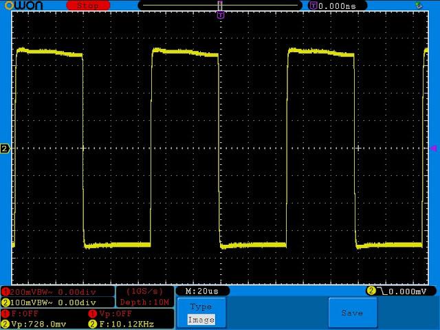 Измерения лампового усилитель на лампе 6J1 (аналог 6Ж1П). Частота 10 кГц.