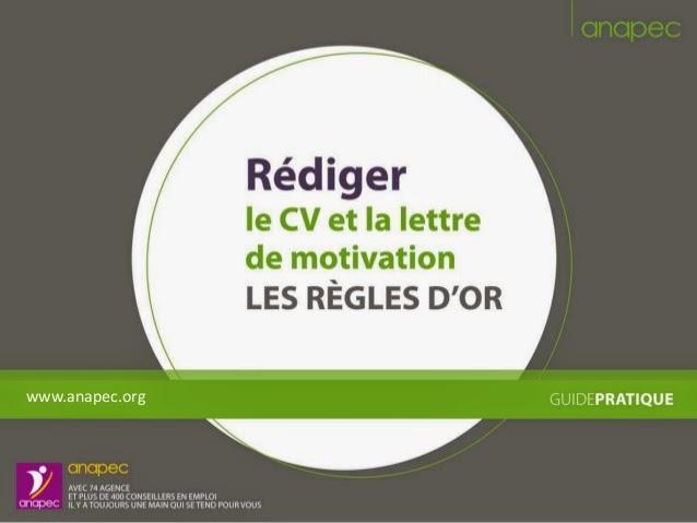cv et lettre de motivation pptx