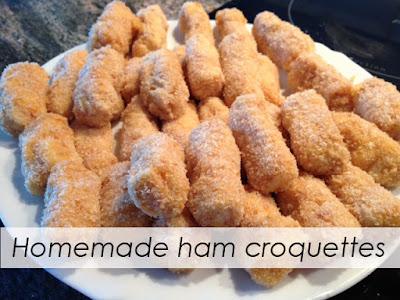 Homemade ham croquettes