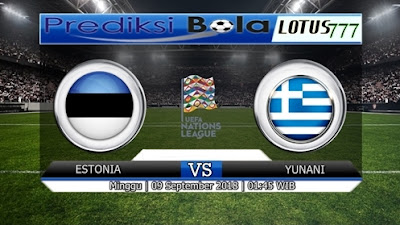 PREDIKSI ESTONIA vs YUNANI 09 SEPTEMBER 2018