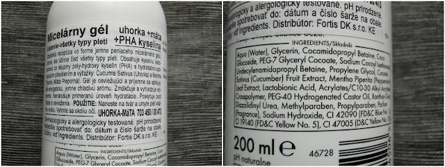 gel ziaja recenze, micelární gel, ziaja kosmetika