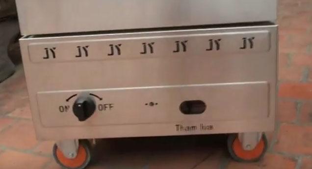 Tủ nấu cơm gas 10 khay tại Sài Gòn