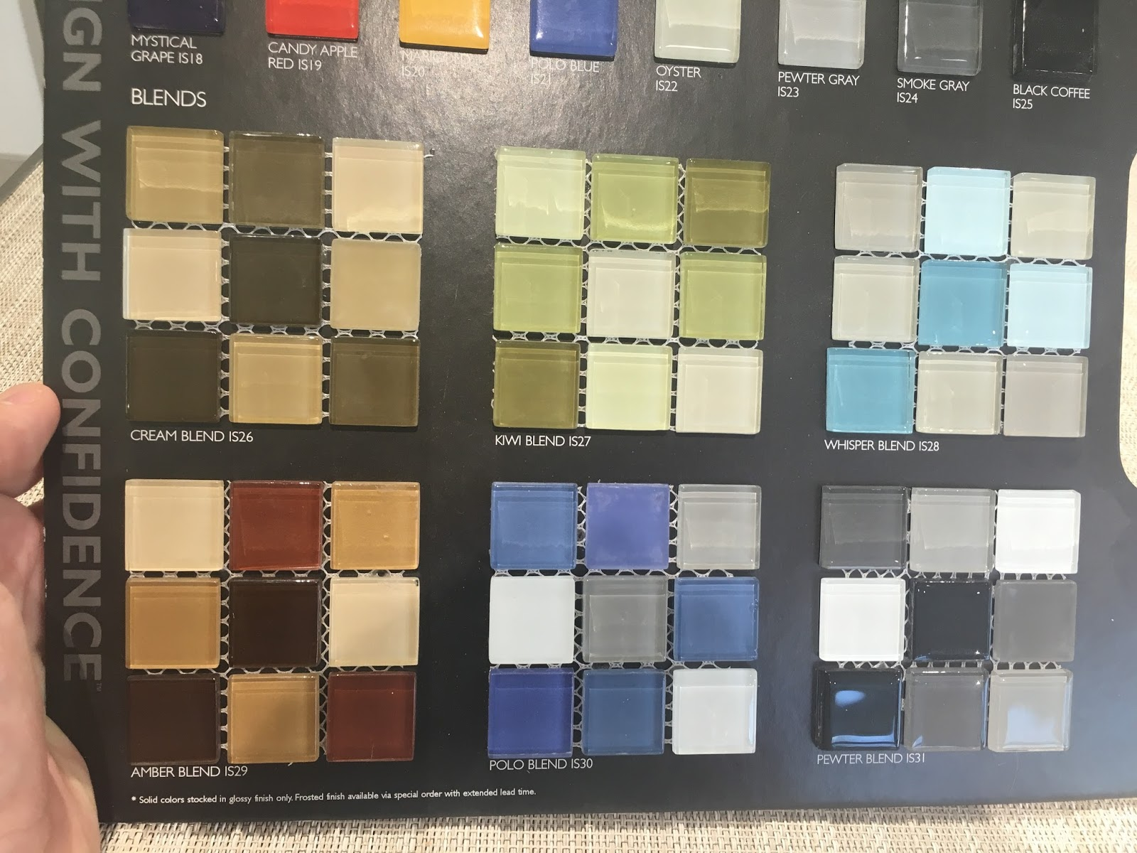 My Wood Burning Pizza Oven Tile Color Options For The New Pizza Oven - Daltile retailers