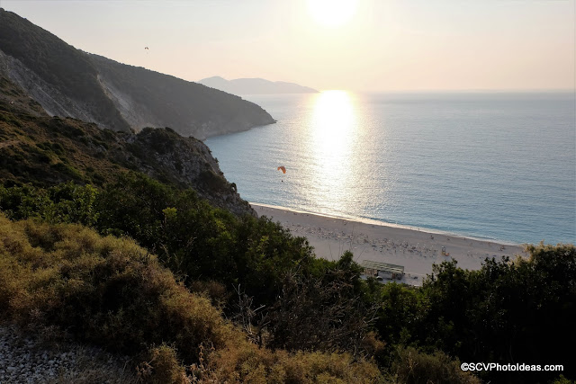 Paragliders at Myrtos Sunset No 3