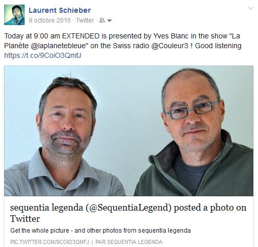 Laurent Schieber et Yves Blanc