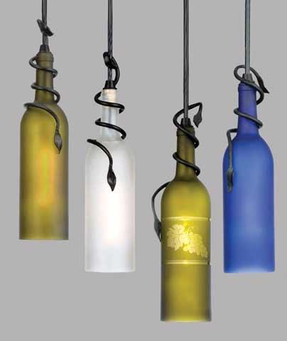 ART LAMPU GANTUNG DARI BOTOL KACA
