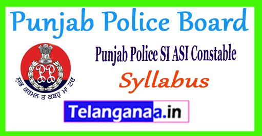 Punjab Police SI ASI Constables Previous Papers Syllabus