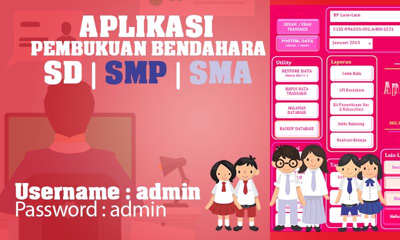 Aplikasi Pembukuan Bendahara SD|SMP|SMA Terlengkao dengan Excel Terbaru 2016