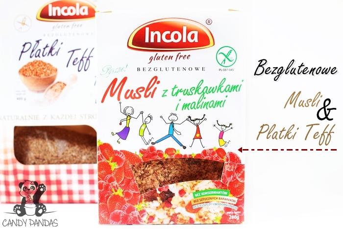 Płatki Teff i Musli z truskawkami i malinami - Incola