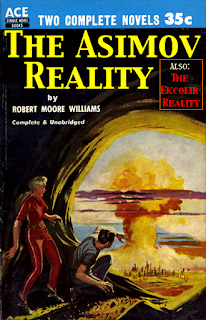 "Book cover: ""The Asimov Reality"" by Robert Moore Williams"