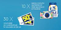 Castiga 10 aparate foto digitale waterprooof sau vouchere de cumparaturi la Lidl