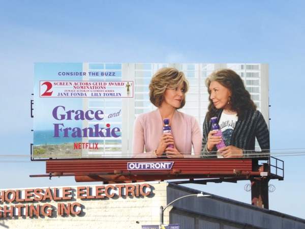 Grace and Frankie season 3 SAG Awards billboard