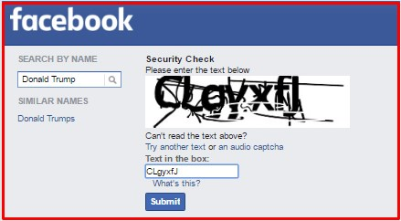 how to search facebook without account