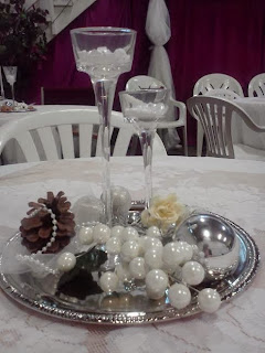 Alannah's table setting for wedding reception