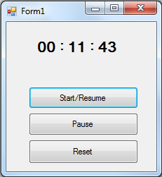 Stopwatch in Visual Basic using Timer