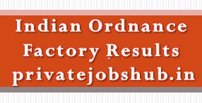 Indian Ordnance Factory Results