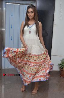 Telugu Actress Anu Emmanuel New Stills in Beautiful White Long Dress  0069.JPG