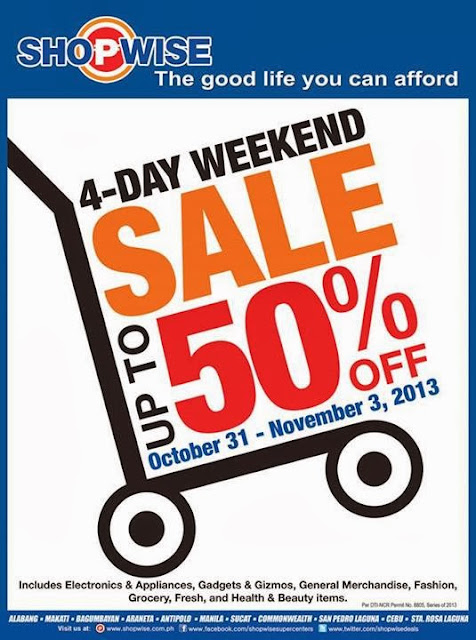 Shopwise sale, Sale, 50% off, sale, Philippines promo, Philippines promotion, contest, Philippines contest, Philippines promos and contest, Halloween contest, Promotion 2013, promotion 2013 Philippines, manila