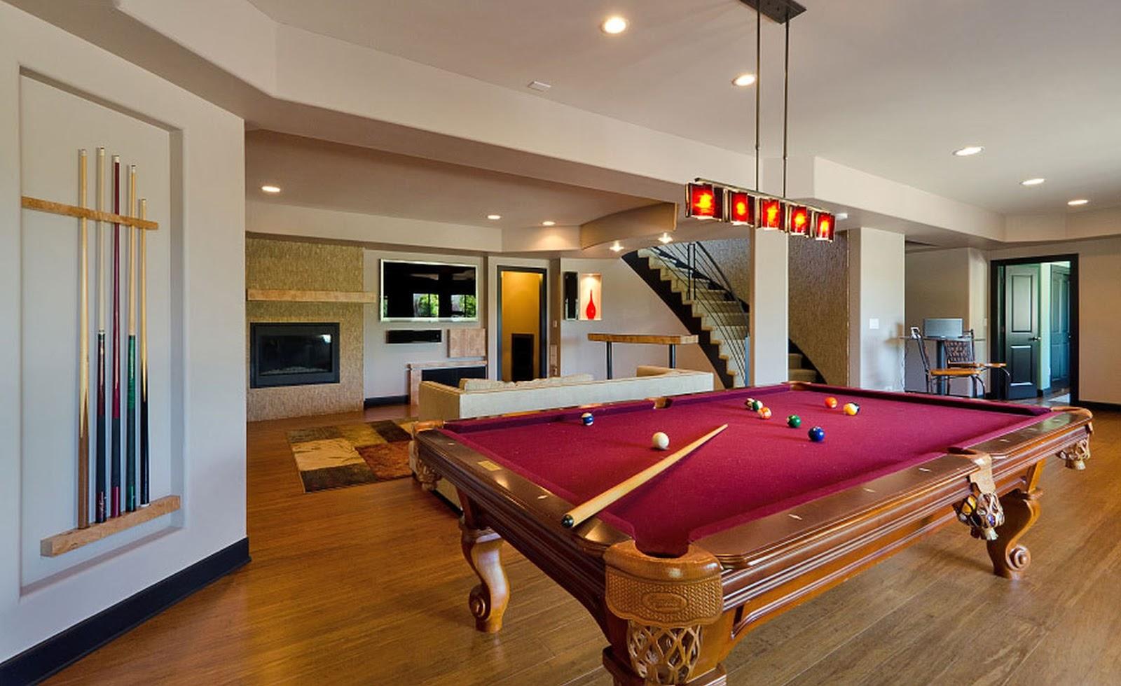 My basement ideas modern basement finishing ideas for Rec room pools