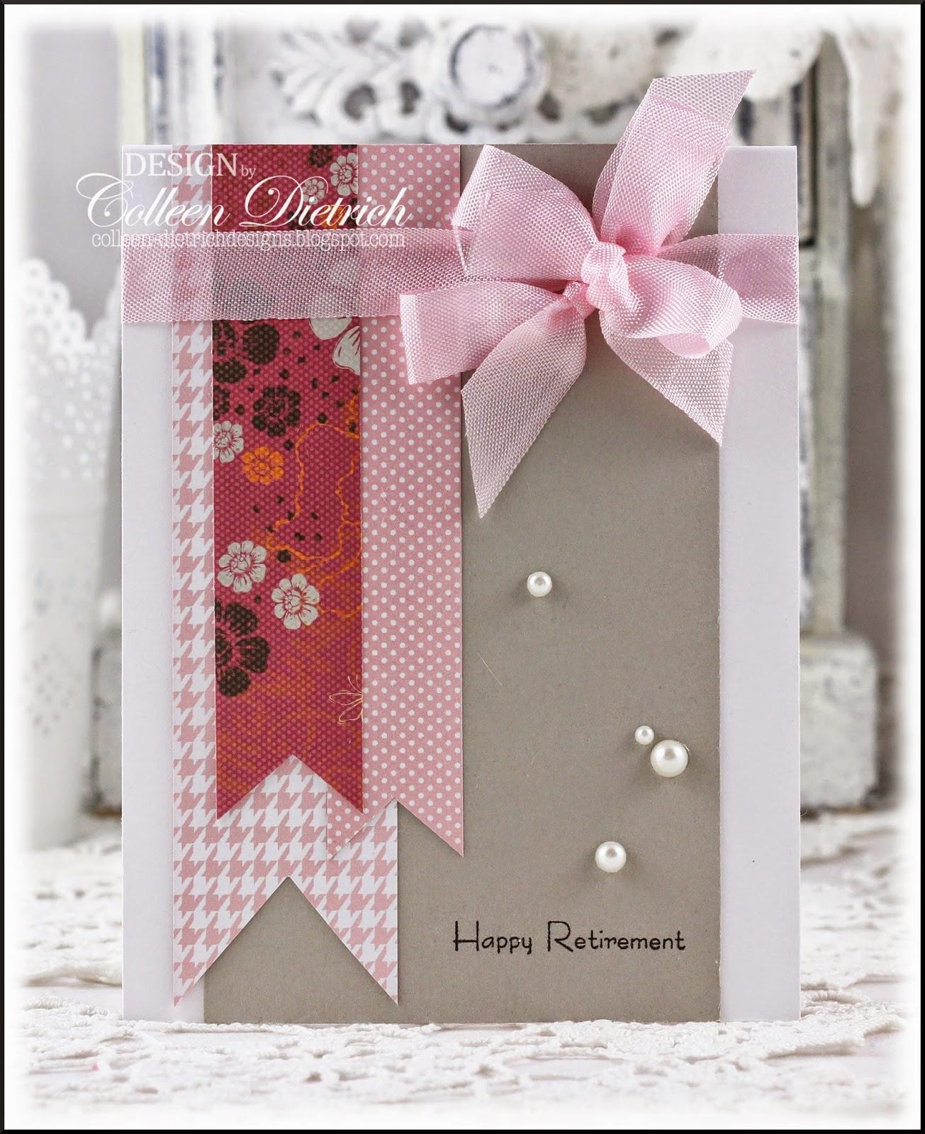 Retirement Card Principal | Retirement cards, Personal ... |Handmade Retirement Cards