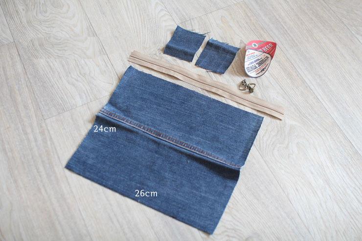 Denim make-up bag or Pencil Case Tutorial DIY