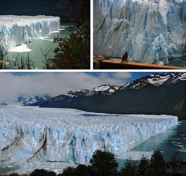 El frente del glaciar Perito Moreno