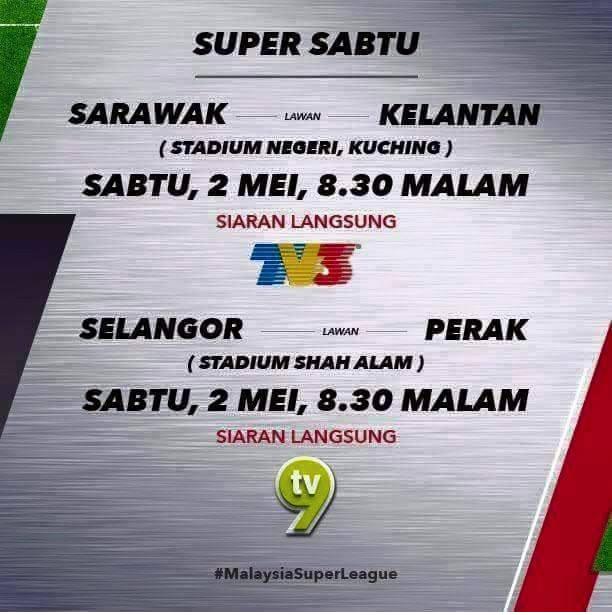 live liga super 2 mei 2015