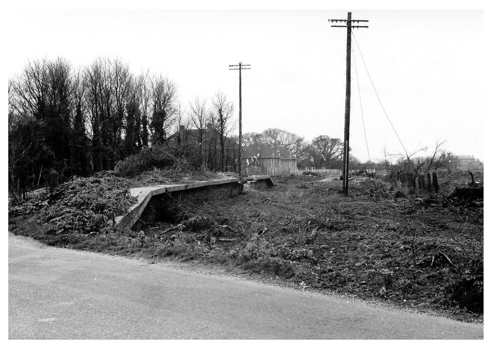 Remains of Browndown Halt 1960's