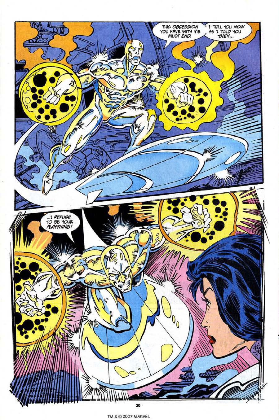 Read online Silver Surfer (1987) comic -  Issue #92 - 22