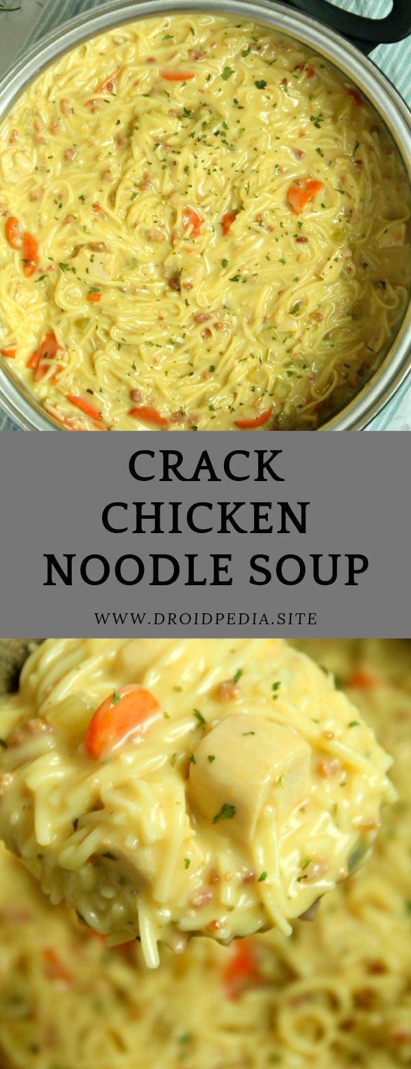 Crack Chicken Noodle Soup #CHICKEN #MAINCOURSE #NOODLES