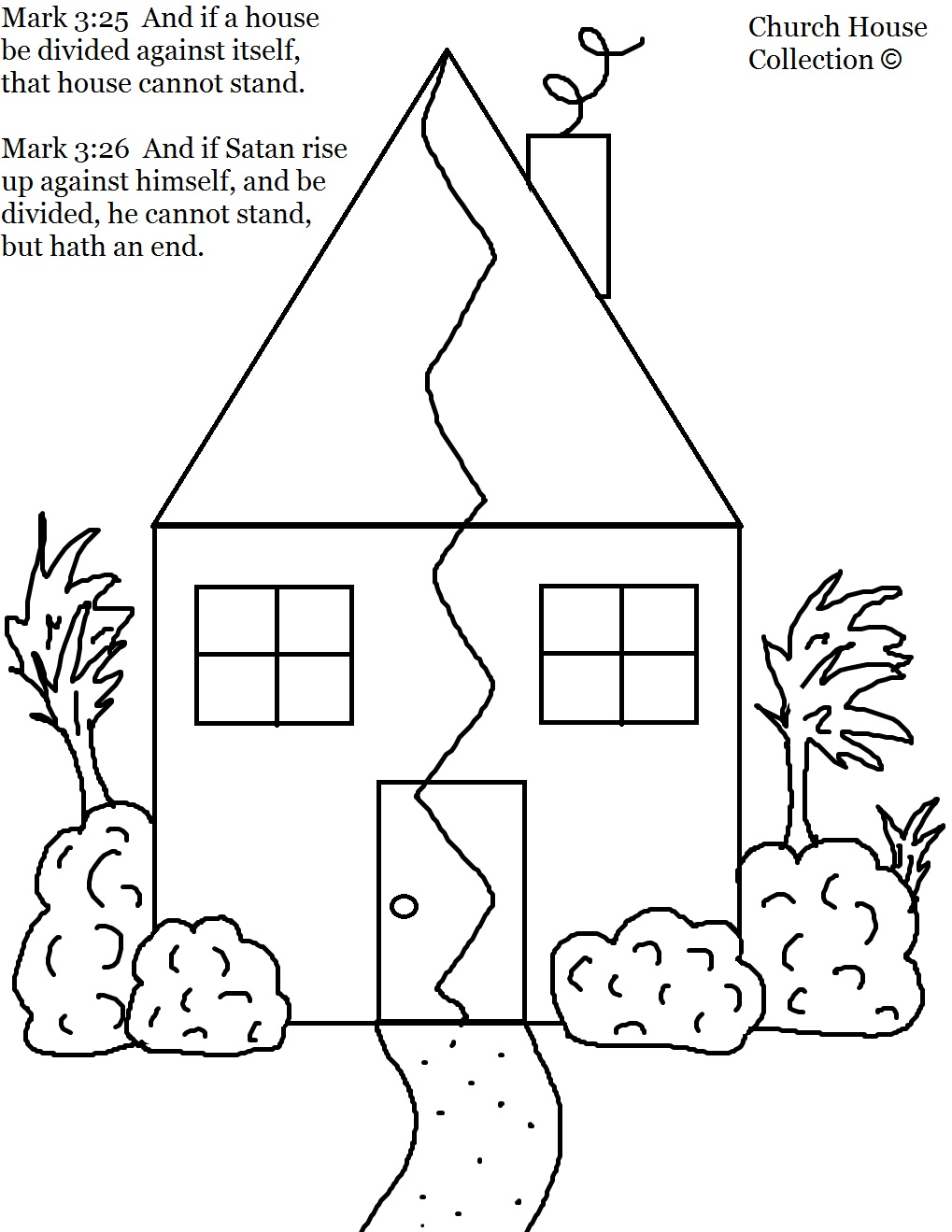 Church House Collection Blog: Coloring Page for Mark 3:25