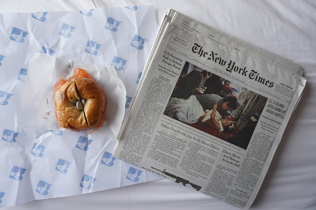 russ and daughters bagel new york times newspaper breakfast brunch