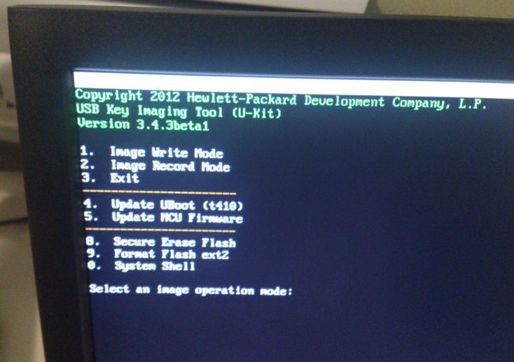 Troubleshooting: How to install OS on HP t410 All In One