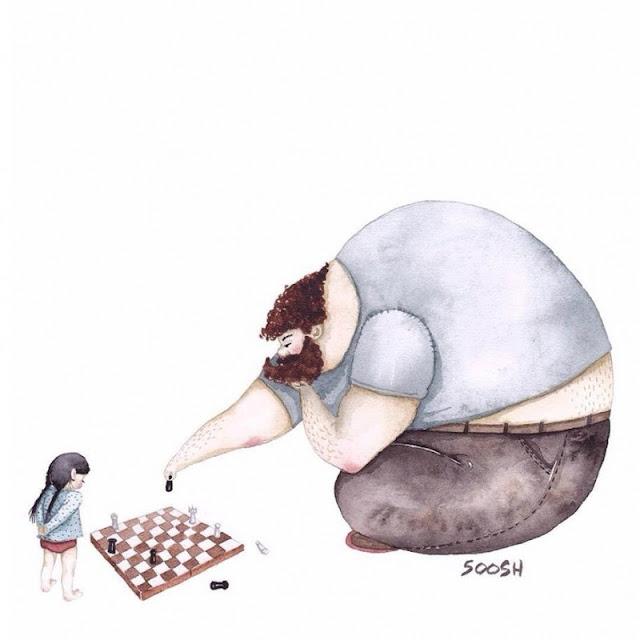 La relación padre-hija en dibujos ¡La número 8 te hará llorar!